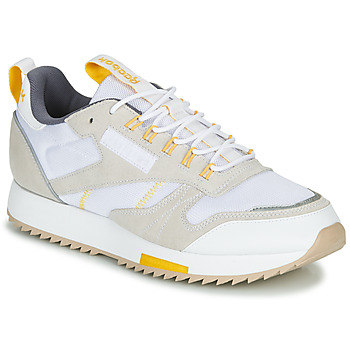 kengät Naiset Matalavartiset tennarit Reebok Classic CL LEATHER RIPPLE T Beige / White