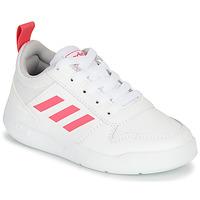 kengät Tytöt Matalavartiset tennarit adidas Performance TENSAUR K White / Pink