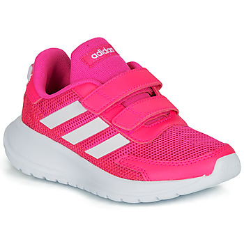 kengät Tytöt Matalavartiset tennarit adidas Performance TENSAUR RUN C Pink / White