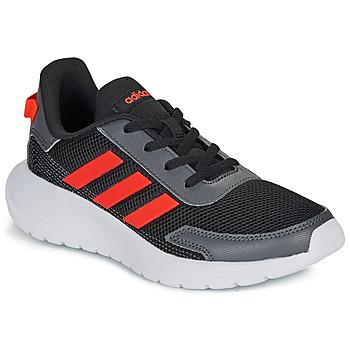 kengät Pojat Matalavartiset tennarit adidas Performance TENSAUR RUN K Black / Red