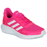 kengät Tytöt Matalavartiset tennarit adidas Performance TENSAUR RUN K Pink / White