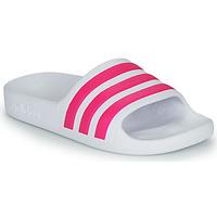 kengät Tytöt Rantasandaalit adidas Performance ADILETTE AQUA K White / Pink
