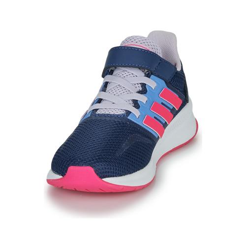 Adidas Performance Runfalcon C Blue / Pink - Ilmainen Toimitus- Kengät Matalavartiset Tennarit Naiset 25