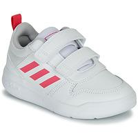 kengät Tytöt Matalavartiset tennarit adidas Performance TENSAUR C Valkoinen / Vaaleanpunainen