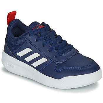 kengät Lapset Matalavartiset tennarit adidas Performance TENSAUR K Sininen / Valkoinen