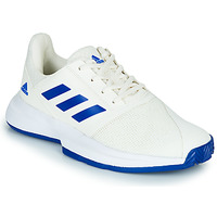 kengät Lapset Tenniskengät adidas Performance COURTJAM XJ White / Blue