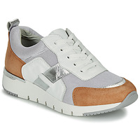 kengät Naiset Matalavartiset tennarit Caprice BEBENE White / Camel