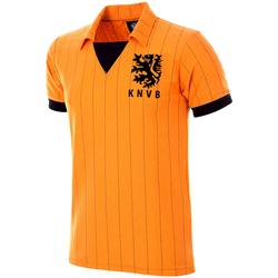 vaatteet Miehet Lyhythihainen t-paita Copa Football Maillot rétro Pays-Bas 1983 orange