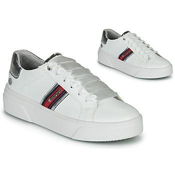 kengät Naiset Matalavartiset tennarit Dockers by Gerli 46BK204-591 Valkoinen