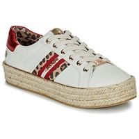 kengät Naiset Matalavartiset tennarit Dockers by Gerli 46GV202-509 Valkoinen / Monivärinen