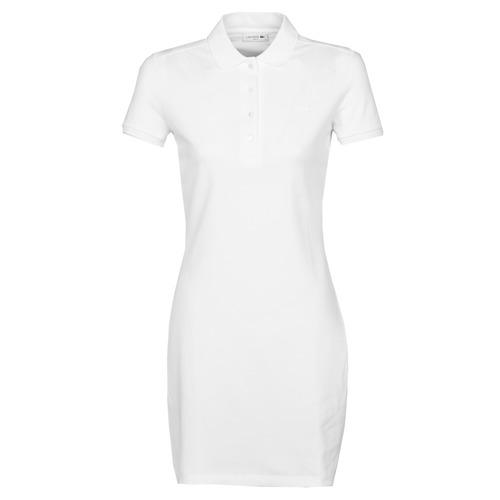 vaatteet Naiset Lyhyt mekko Lacoste EUGENIE White