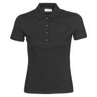 vaatteet Naiset Lyhythihainen poolopaita Lacoste PH5462 SLIM Black