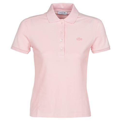 vaatteet Naiset Lyhythihainen poolopaita Lacoste PH5462 SLIM Pink