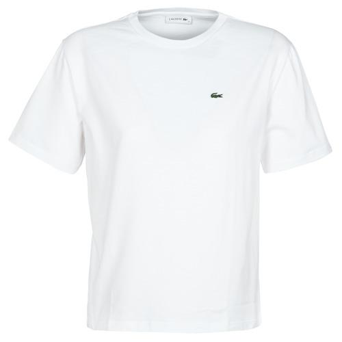 vaatteet Naiset Lyhythihainen t-paita Lacoste BENOIT White