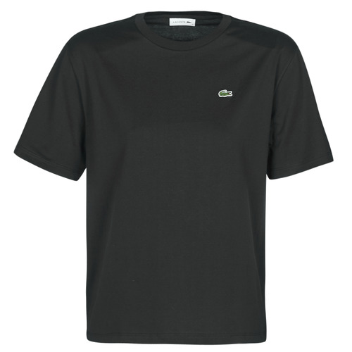 vaatteet Naiset Lyhythihainen t-paita Lacoste BERNARD Musta
