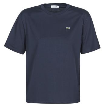 vaatteet Naiset Lyhythihainen t-paita Lacoste ELOI Laivastonsininen