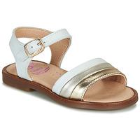 kengät Tytöt Sandaalit ja avokkaat Pablosky  White / Kulta
