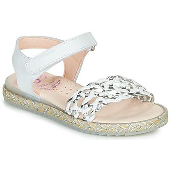 kengät Tytöt Sandaalit ja avokkaat Pablosky  White / Hopea