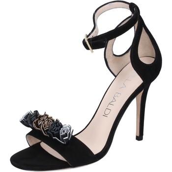 kengät Naiset Sandaalit ja avokkaat Lella Baldi sandali camoscio Nero