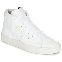 kengät Naiset Korkeavartiset tennarit adidas Originals adidas SLEEK MID W White