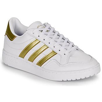 kengät Naiset Matalavartiset tennarit adidas Originals MODERN 80 EUR COURT W White / Kulta
