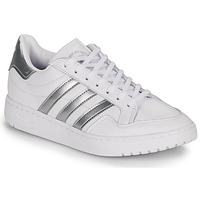 kengät Matalavartiset tennarit adidas Originals MODERN 80 EUR COURT W Valkoinen / Hopea