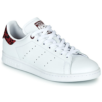 kengät Naiset Matalavartiset tennarit adidas Originals STAN SMITH W White / Bordeaux