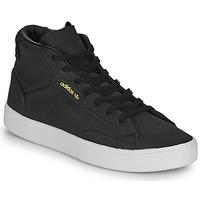 kengät Naiset Korkeavartiset tennarit adidas Originals adidas SLEEK MID W Black