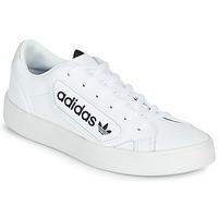 kengät Naiset Matalavartiset tennarit adidas Originals adidas SLEEK W White