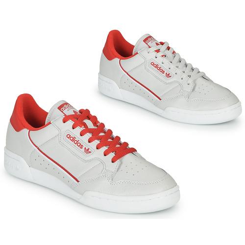 kengät Matalavartiset tennarit adidas Originals CONTINENTAL 80 Beige / Red