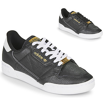 kengät Naiset Matalavartiset tennarit adidas Originals CONTINENTAL 80 Musta