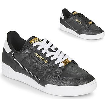 kengät Naiset Matalavartiset tennarit adidas Originals CONTINENTAL 80 Black