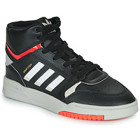 kengät Miehet Korkeavartiset tennarit adidas Originals DROP STEP Black / White
