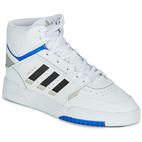 kengät Miehet Korkeavartiset tennarit adidas Originals DROP STEP White / Black / Blue