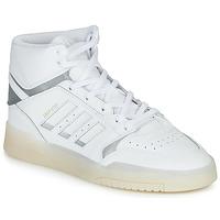 kengät Miehet Korkeavartiset tennarit adidas Originals DROP STEP Valkoinen