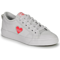 kengät Naiset Matalavartiset tennarit adidas Originals NIZZA TREFOIL W White