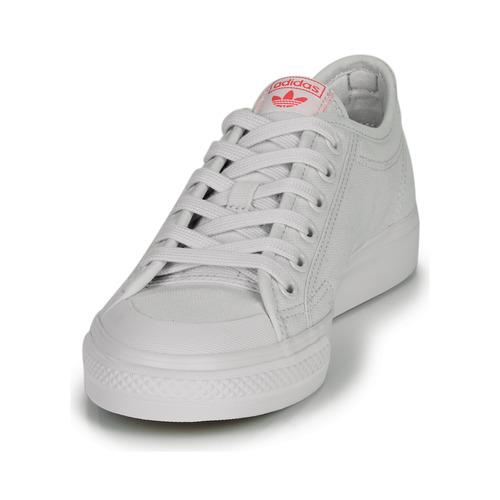 Adidas Originals Nizza Trefoil W White - Ilmainen Toimitus- Kengät Matalavartiset Tennarit Naiset 57