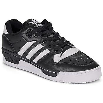 kengät Miehet Matalavartiset tennarit adidas Originals RIVALRY LOW Black / White