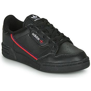 kengät Lapset Matalavartiset tennarit adidas Originals CONTINENTAL 80 C Black