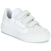 kengät Lapset Matalavartiset tennarit adidas Originals CONTINENTAL VULC CF C White / Beige