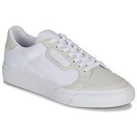 kengät Lapset Matalavartiset tennarit adidas Originals CONTINENTAL VULC J White / Beige