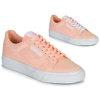 kengät Tytöt Matalavartiset tennarit adidas Originals CONTINENTAL VULC J Pink