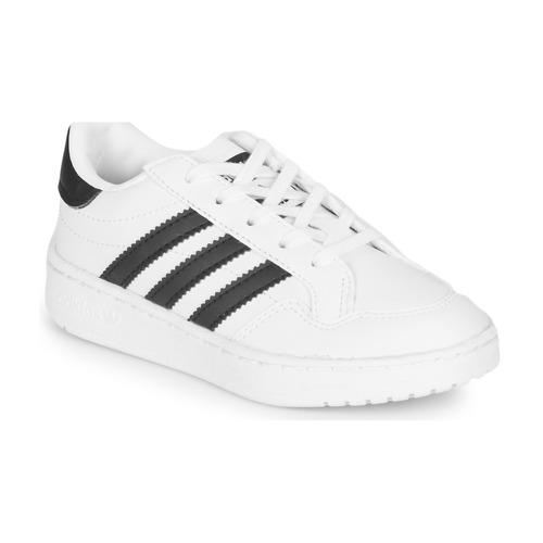 kengät Lapset Matalavartiset tennarit adidas Originals Novice C White / Black