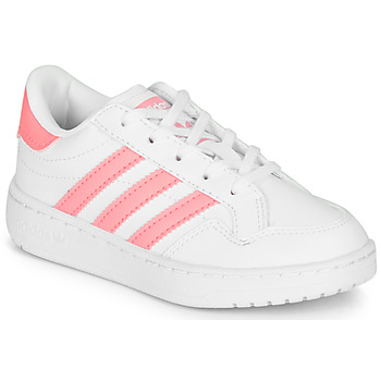 kengät Tytöt Matalavartiset tennarit adidas Originals Novice C White / Pink