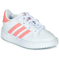 kengät Tytöt Matalavartiset tennarit adidas Originals NOVICE EL I White / Pink