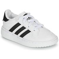 kengät Lapset Matalavartiset tennarit adidas Originals NOVICE EL I Valkoinen / Musta