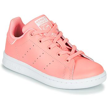 kengät Tytöt Matalavartiset tennarit adidas Originals STAN SMITH C Pink