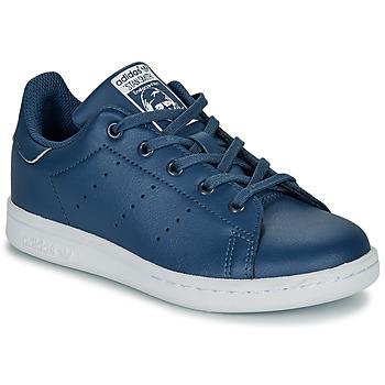 kengät Pojat Matalavartiset tennarit adidas Originals STAN SMITH C Blue
