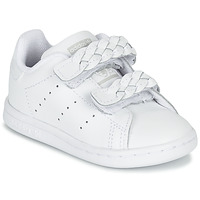 kengät Tytöt Matalavartiset tennarit adidas Originals STAN SMITH CF I White / Tresse