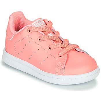 kengät Tytöt Matalavartiset tennarit adidas Originals STAN SMITH EL I Pink